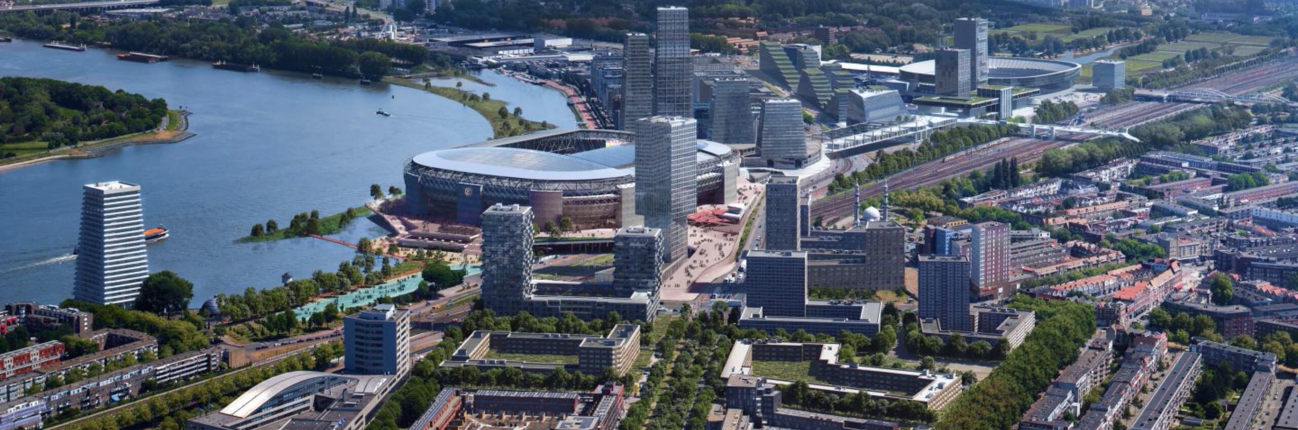 Gemeenteraad neemt bestemmingsplan Feyenoord City aan